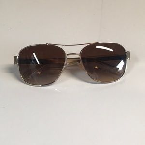 Coach Lt gold/crystal brown sunglasses